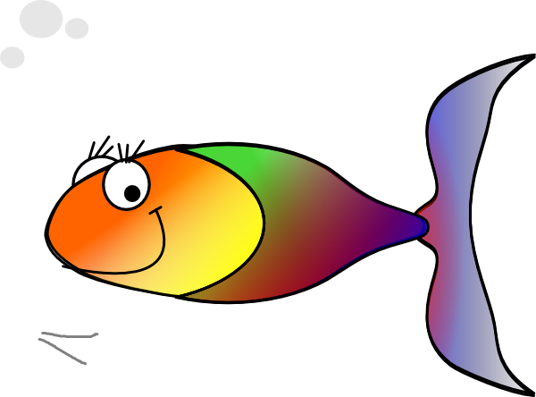 600x444 Clipart Rainbow Fish