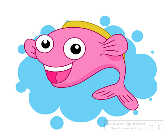 550x440 Nice Cute Fish Clipart Vector Illustration Of Cartoon Waving Clip