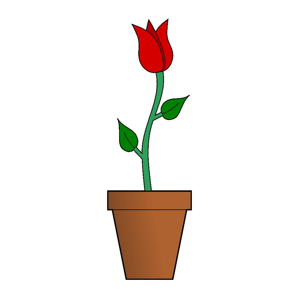999x999 Cartoon Flowers In Vase Luxury Flower Vase Holding A Big Red Heart
