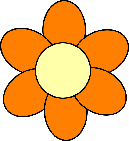 Cartoon flower clipart at getdrawings free for personal use 552x600 orange flower clip art mightylinksfo