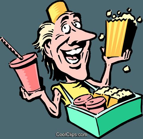 480x467 Cartoon Food Vendor Royalty Free Vector Clip Art Illustration