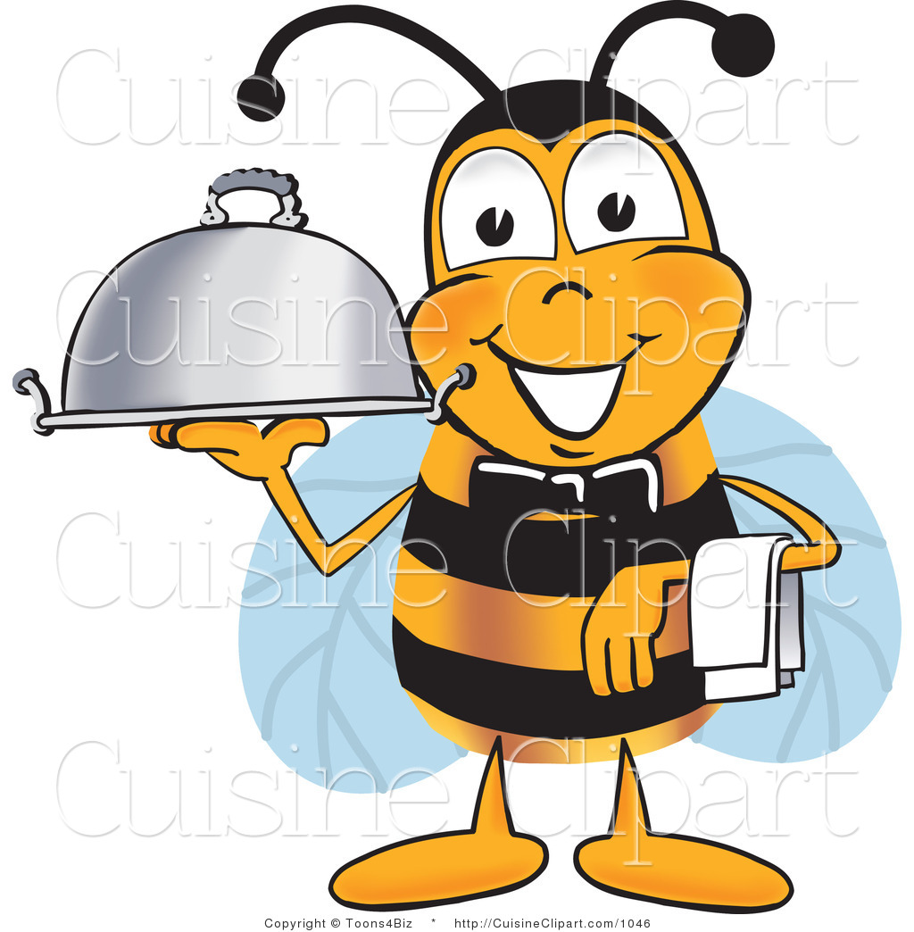 1024x1044 Cuisine Clipart Of A Happy Bee Mascot Cartoon Character Dressed As