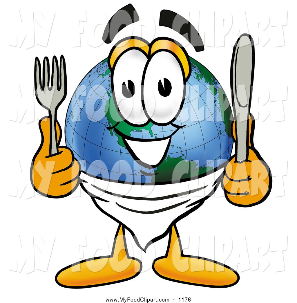 1024x1044 Food Clip Art Of A Cute World Earth Globe Mascot Cartoon Character