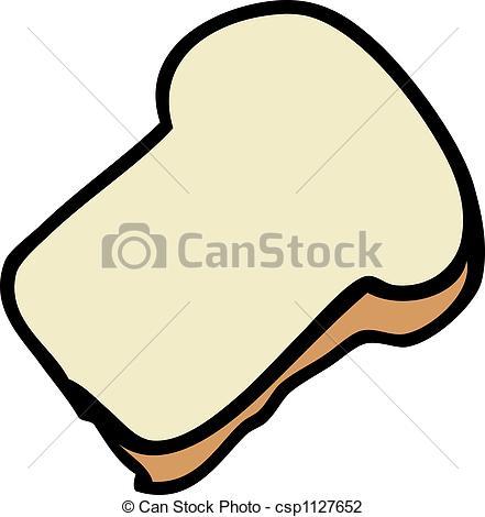 441x470 Slice Of Bread. Cartoon Food Illustration Of A Slice Of Clip