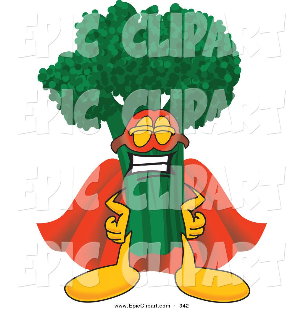 1024x1044 Vector Clip Art Of A Proud Green Broccoli Food Mascot Cartoon