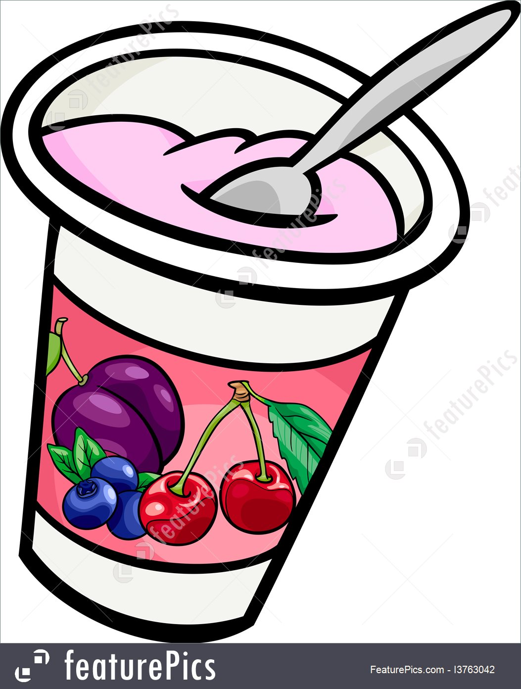 1053x1392 Yogurt Clip Art Cartoon Illustration