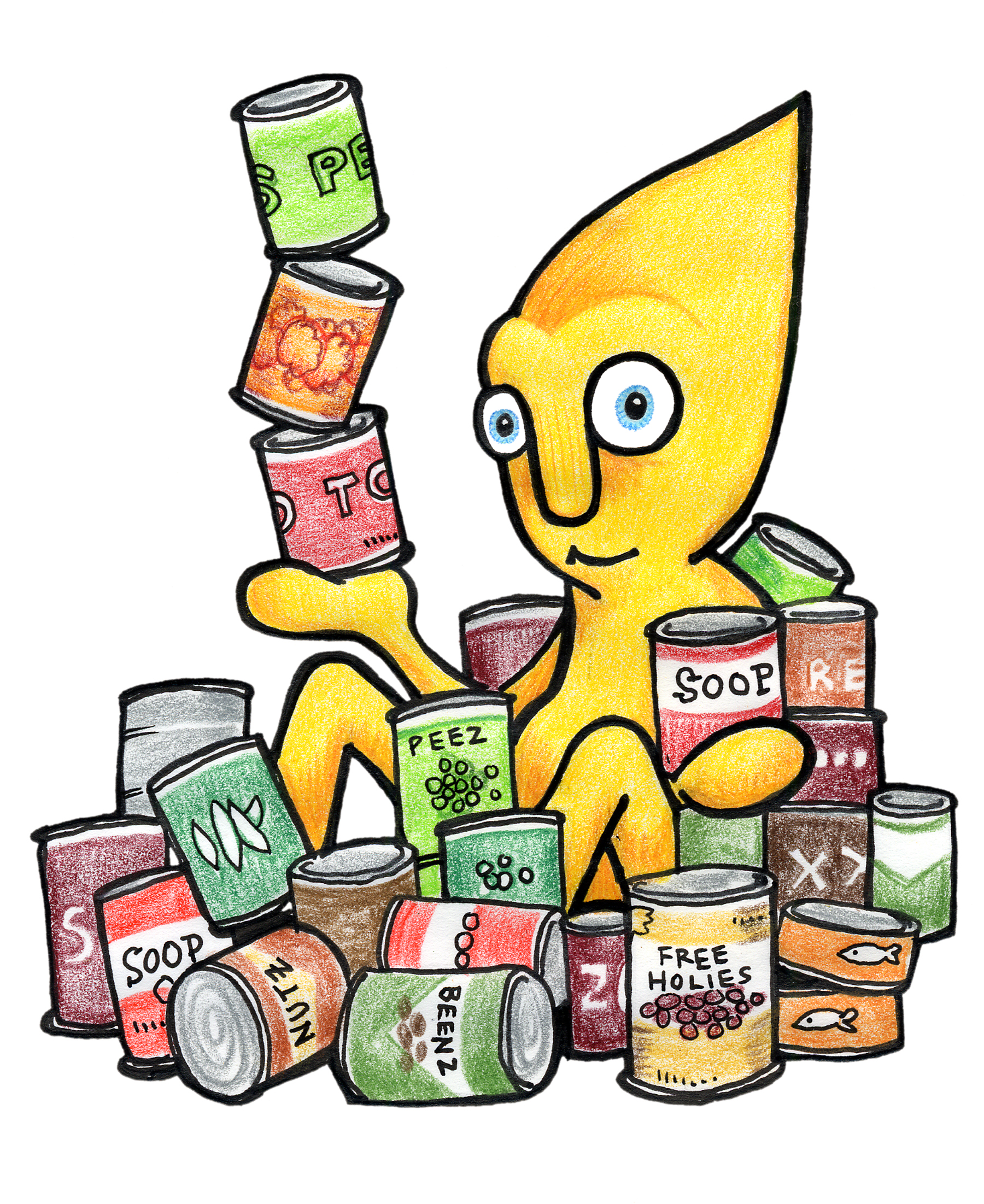 1800x2203 Canned Food Food Drive Clip Art 2