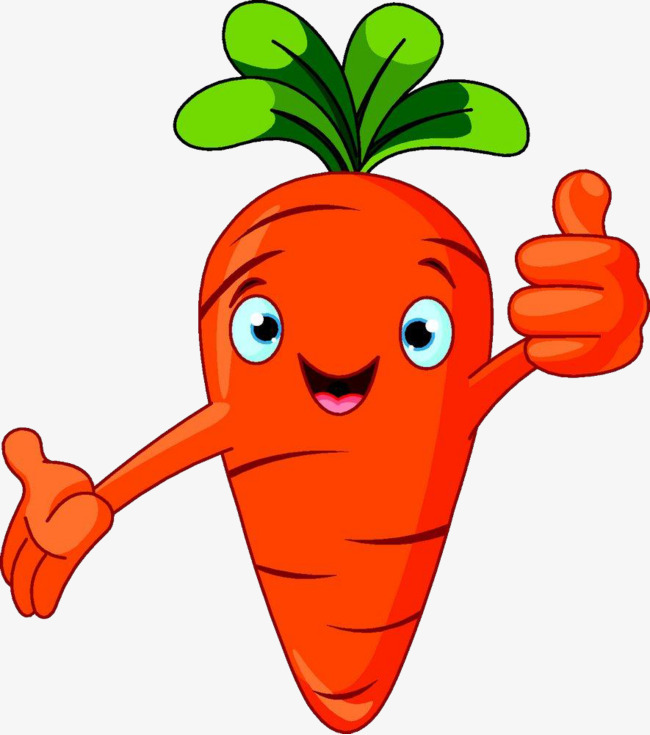 650x735 Cartoon Sticks Of Carrot, Cartoon Food, Carrot, Thumbs Up Png