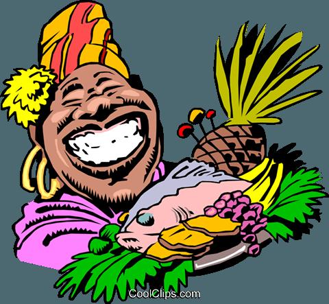 480x443 Cartoon Food Platter Royalty Free Vector Clip Art Illustration