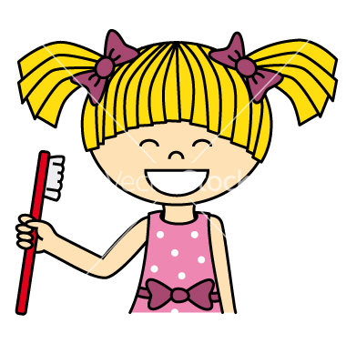 380x400 Brush Teeth Cartoon Girl Brushing Teeth Danasrho Top Clip Art 2