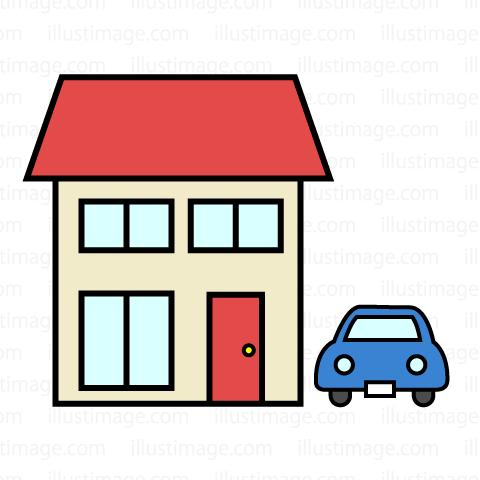 480x480 Free Home Icon With Car Clip Art Cartoon Amp Clipart