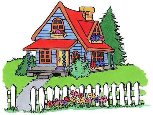 500x375 Pics For Gt Cartoon House Clipart Clip Art Four