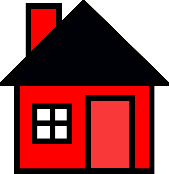 582x599 Red House Clip Art