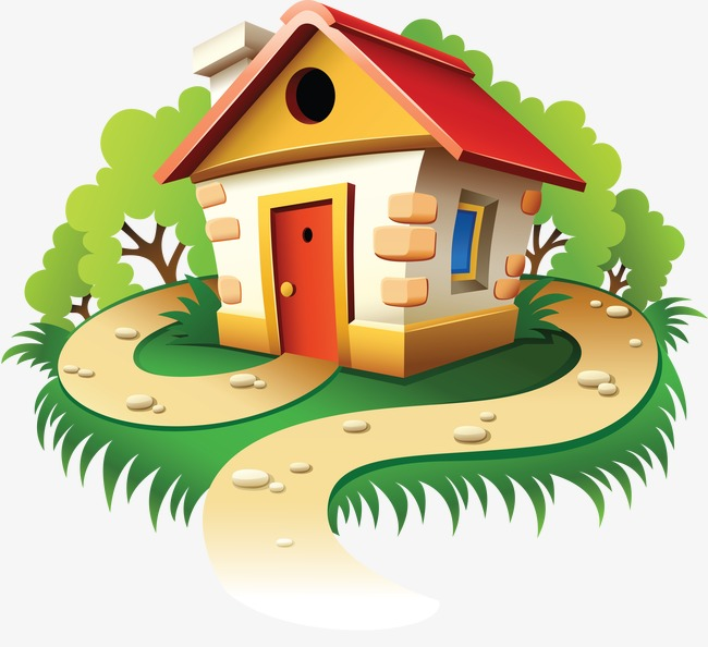 650x594 Small House, House, Forest House, Cartoon House Png Image