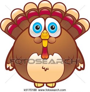 295x300 Turkey Gobbler Clipart Clip Art Of Cartoon Turkey K5170188 Search
