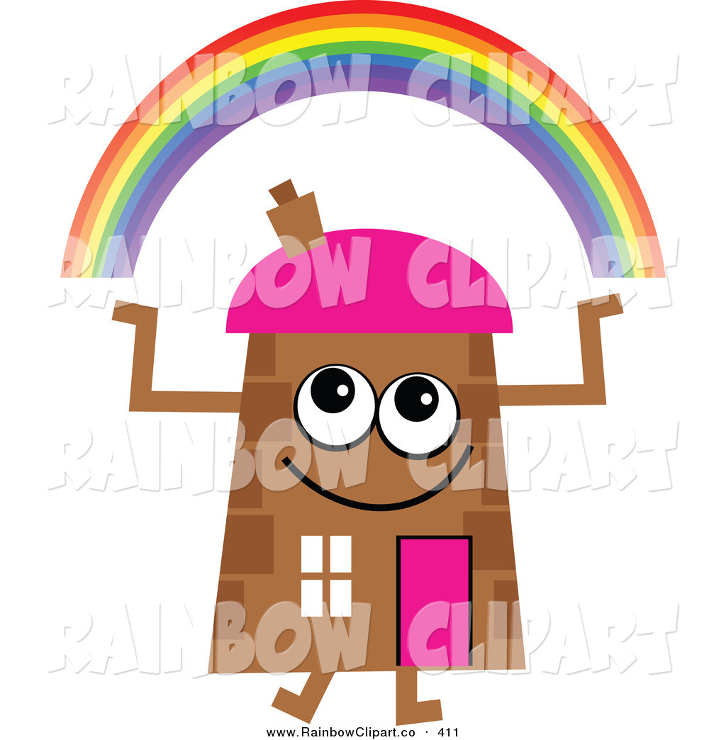 1024x1044 Vector Clip Art Of A Brown Cartoon House Character With An Arched