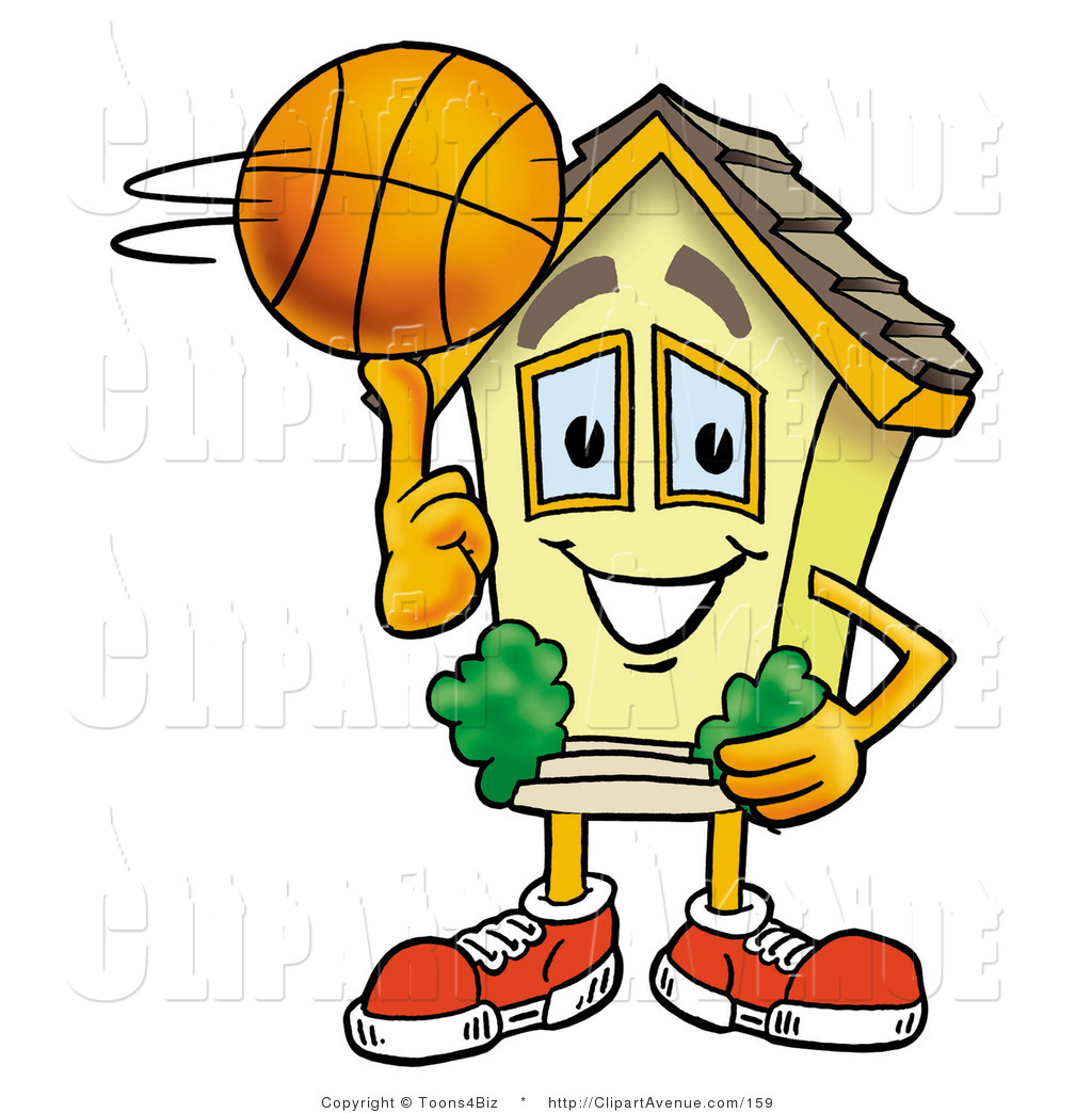 1024x1044 Avenue Clipart Of A Sporty House Mascot Cartoon Character Spinning