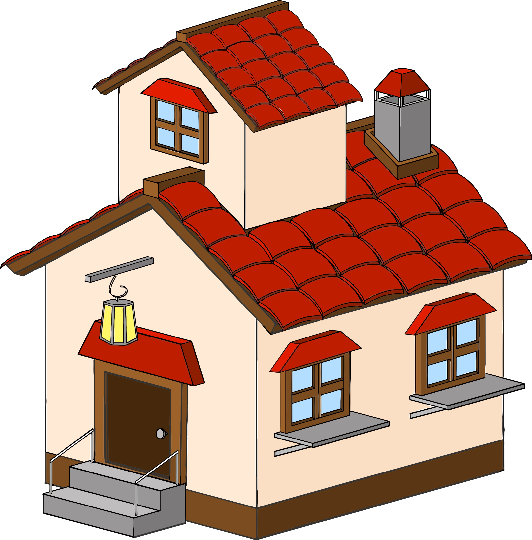 2144x2176 Cartoon Haunted House Clipart Picture