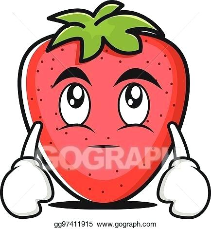 434x470 Eye Roll Clip Art Eye Roll Strawberry Cartoon Character Eye Roll