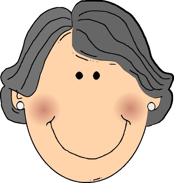 570x597 Grandmother Cartoon Clipart