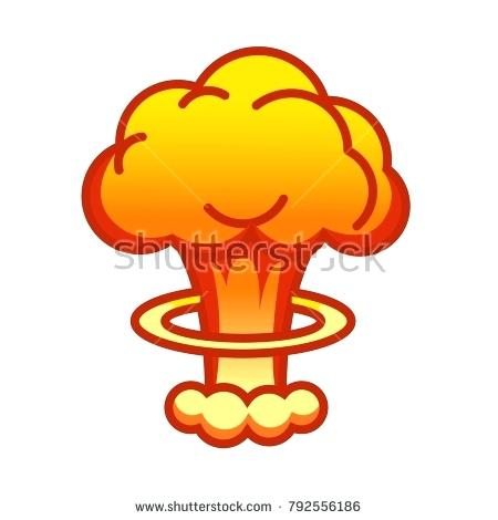 450x470 Nuclear Clip Art Cartoon Comic Style Nuclear Mushroom Cloud