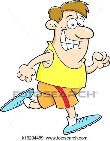 367x470 Person Running Clip Art Cartoon Illustration Of A Man Running