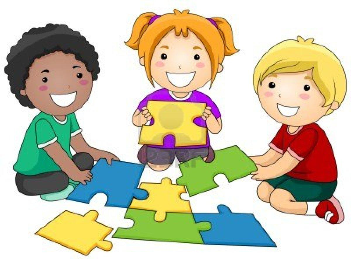 1200x888 Children Playing Together Clipart Puzzle Clipart Kids Puzzle 5