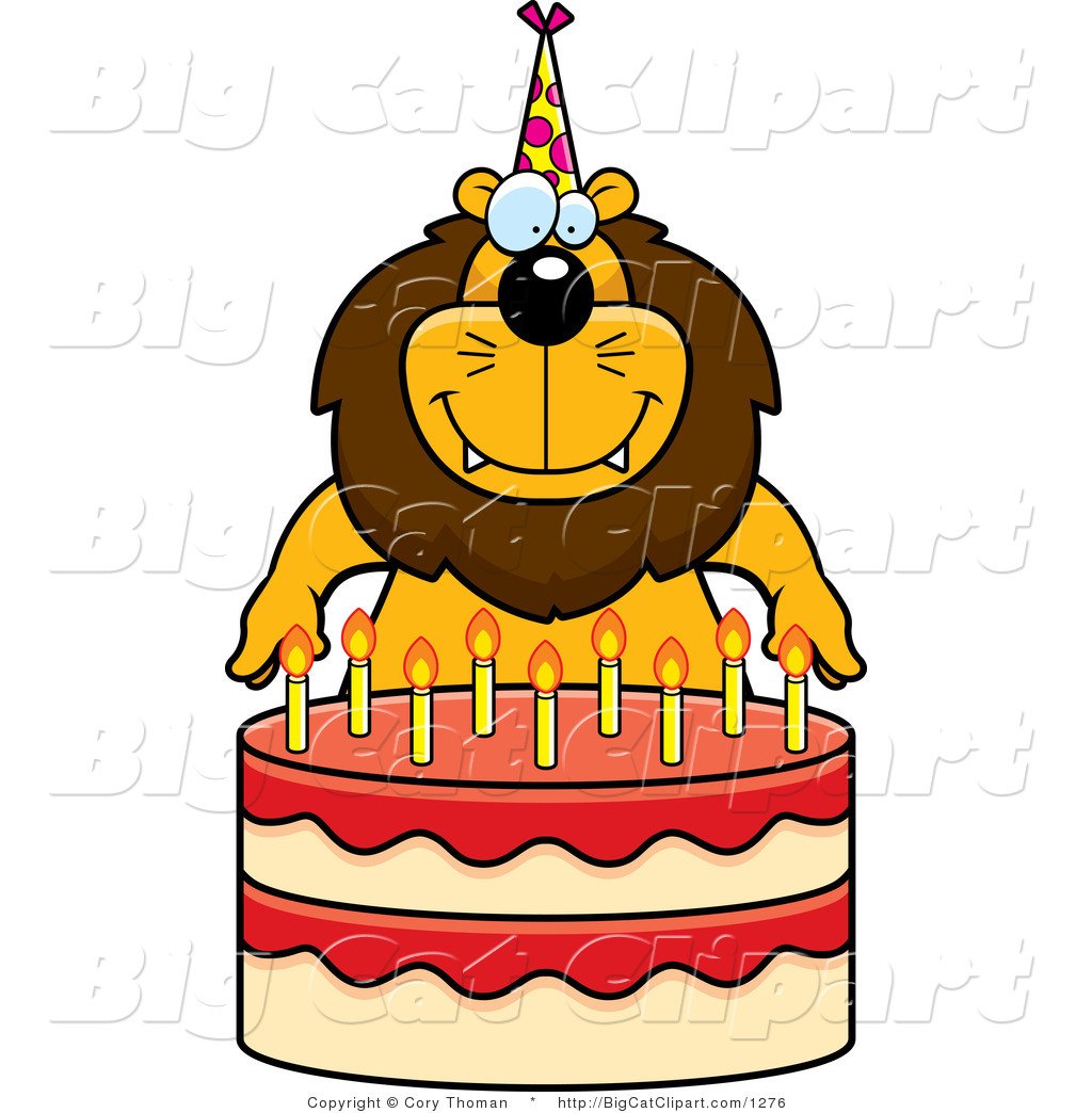 1024x1044 Big Cat Cartoon Vector Clipart Of A Birthday Lion By Cory Thoman