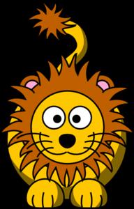 192x300 Cartoon Golden Lion Clip Art