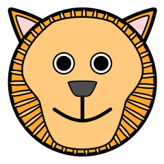 240x240 Free Cartoon Lion Clipart