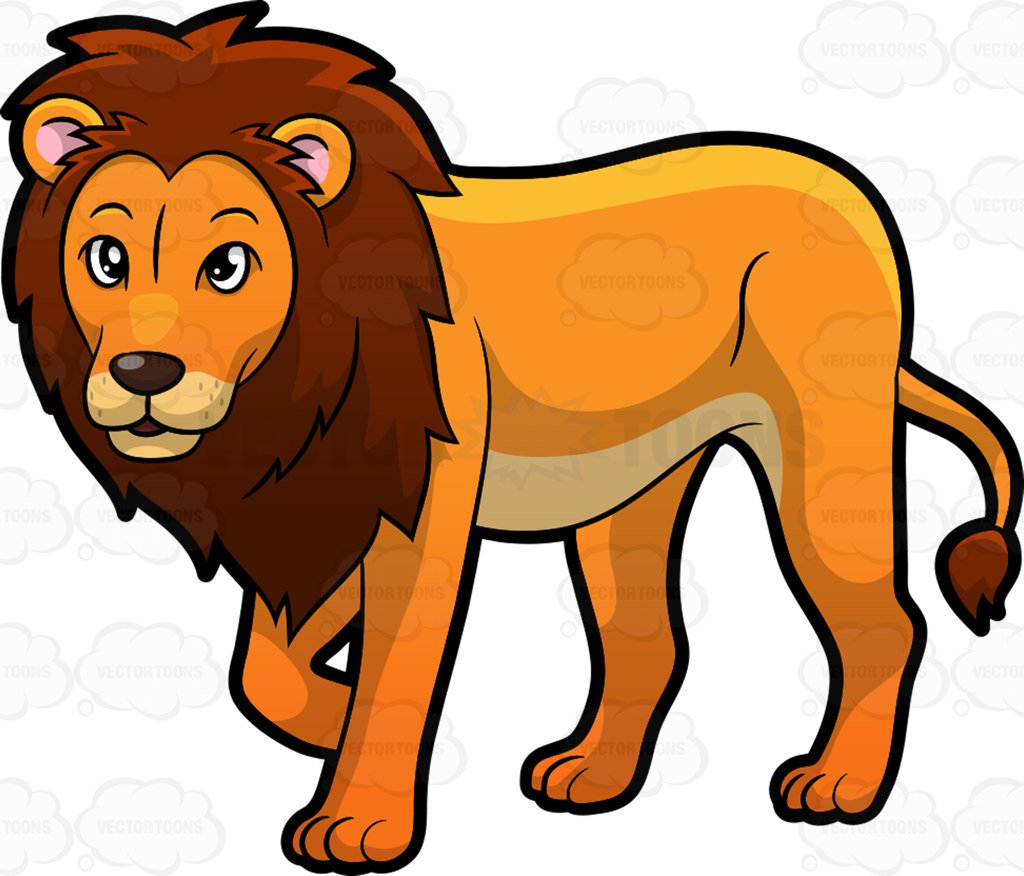 1024x876 Lion Cartoon Clipart Zoo Animals Collection 1 009
