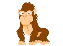 210x153 Monkey Clip Art Pictures Monkey Clipart Cute Cartoon Monkeys