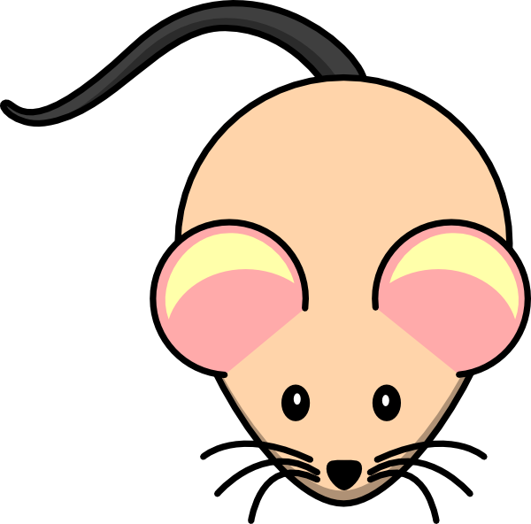 600x592 White Nude Mouse Clip Art