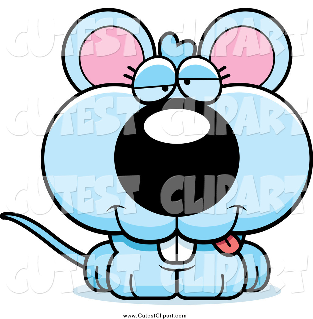 1024x1044 Cartoon Vector Clip Art Of A Dumb Blue Mouse By Cory Thoman