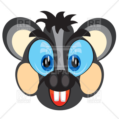 400x400 Cartoon Mouse Face Royalty Free Vector Clip Art Image