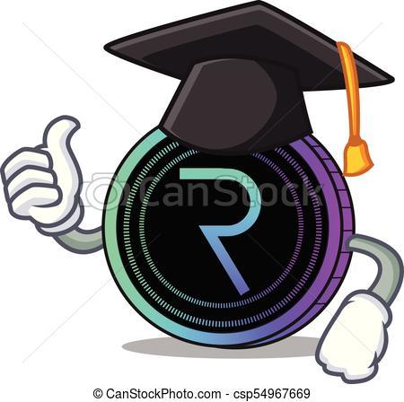 450x448 Graduation Request Network Coin Character Cartoon Vector Clip