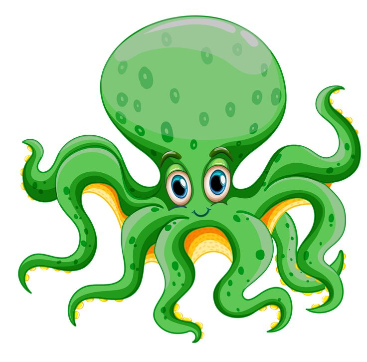 Cartoon Octopus Clipart
