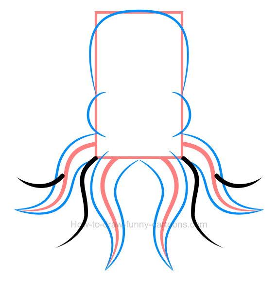 572x581 How To Draw An Octopus Clip Art