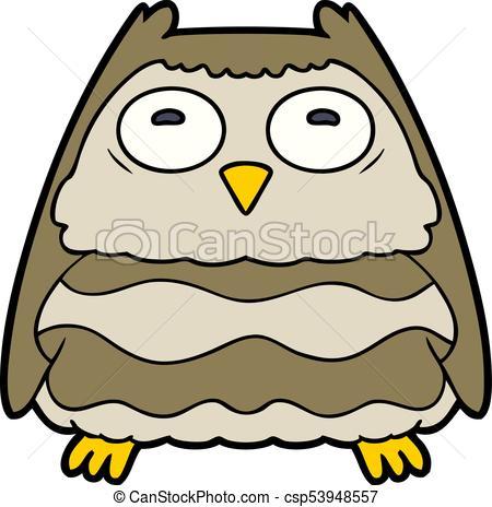450x464 Cartoon Owl Clipart Vector