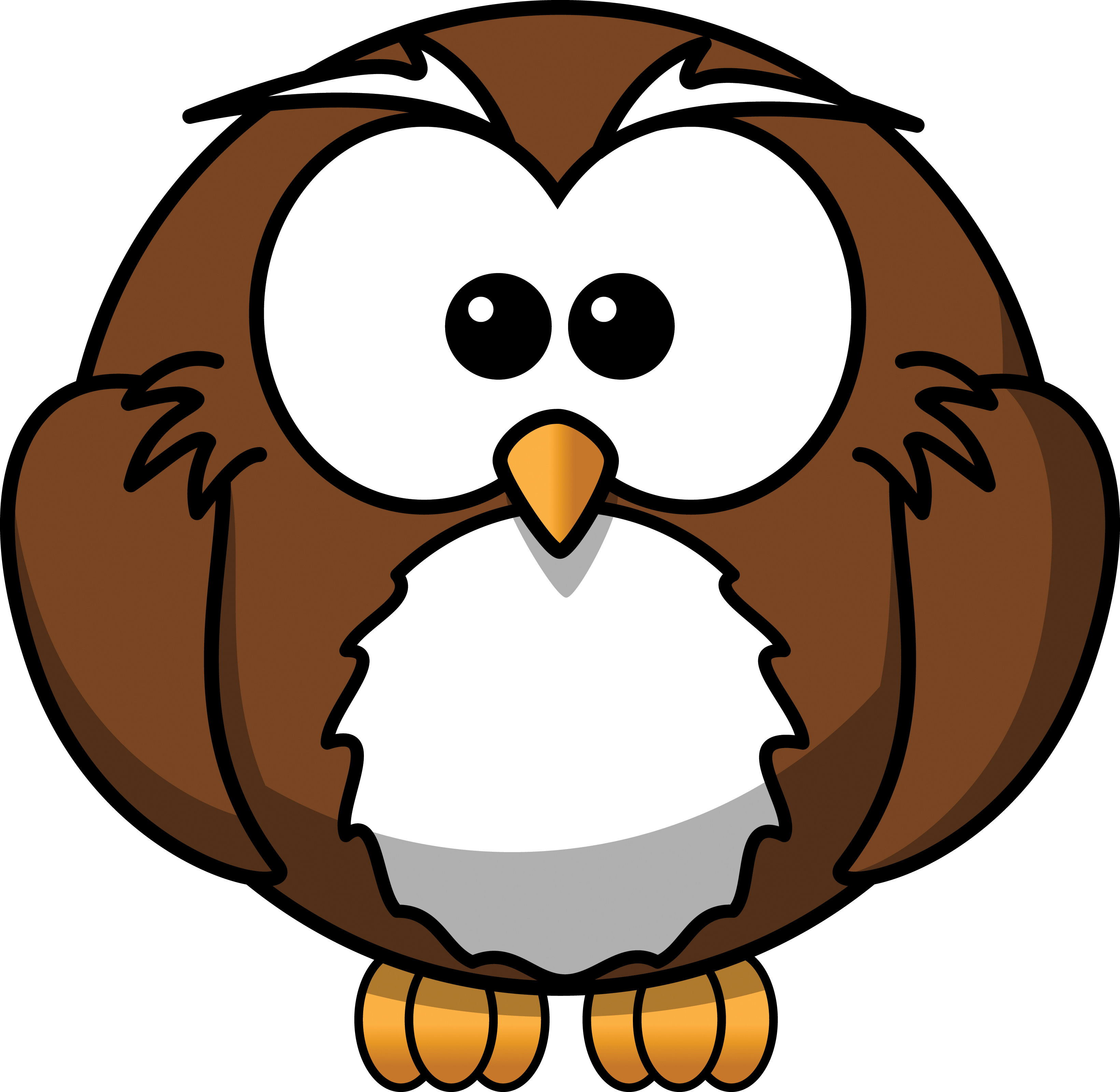 3281x3200 Free Cartoon Owl Clipart