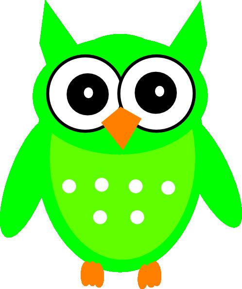 498x595 Green Owl 2 Clip Art