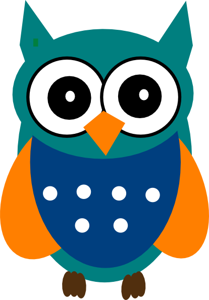 414x594 Image Of Colorful Owl Clipart