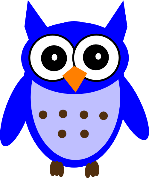 498x596 Blue Owl Clip Art