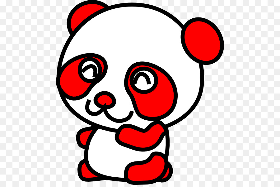 900x600 Giant Panda Red Panda Bear Cartoon Clip Art