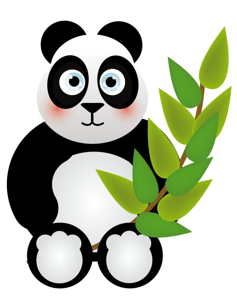 799x1000 Panda Bamboo Clipart
