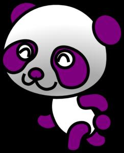 243x300 Purple Panda Clip Art