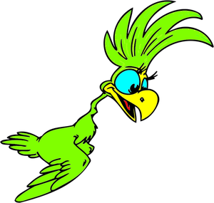 Cartoon Parrot Clipart