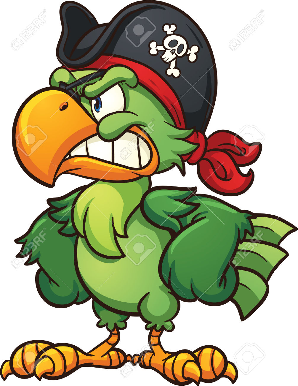 Cartoon Parrot Clipart At Getdrawings Com Free For
