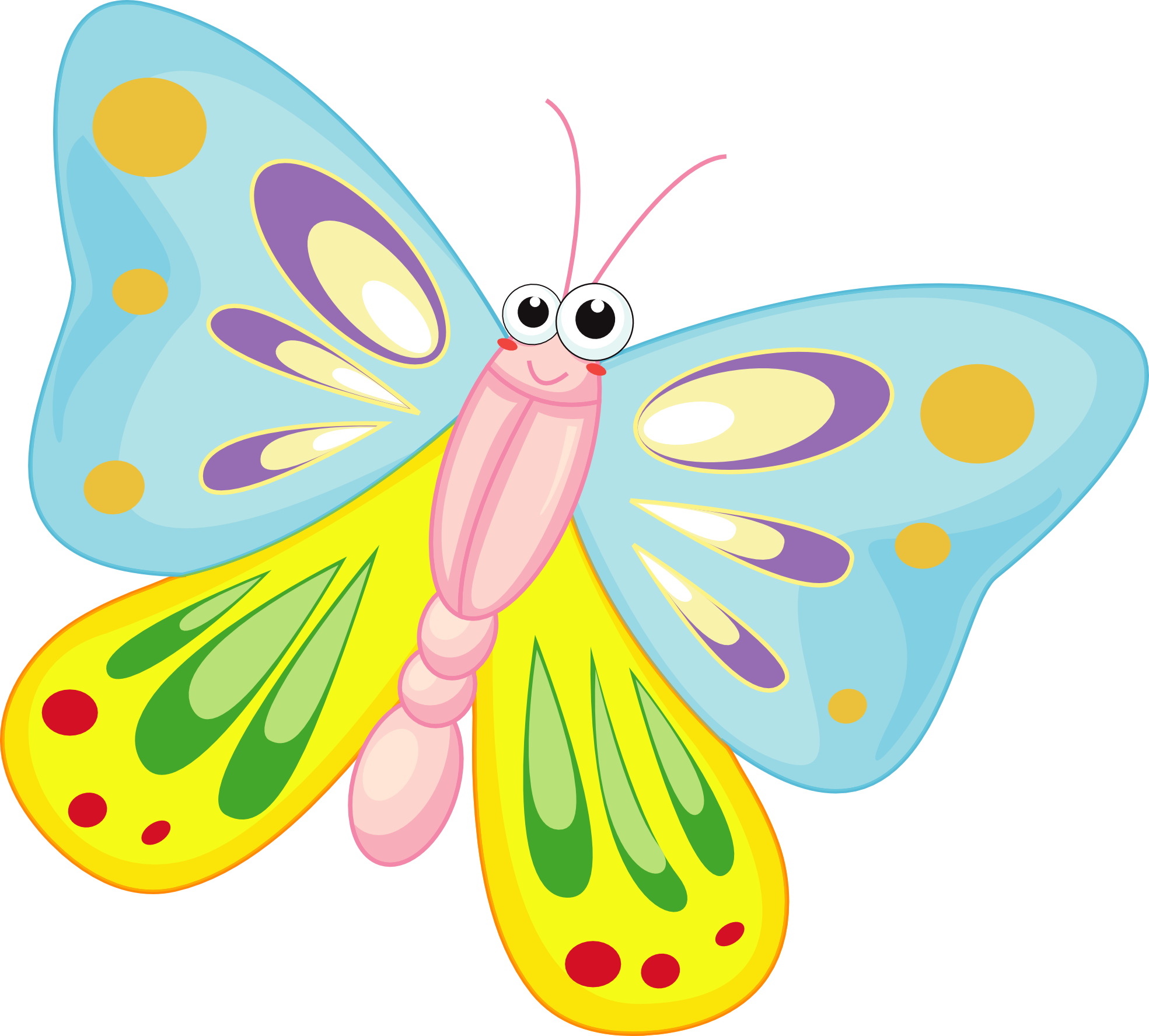 1969x1775 Free Clip Art Cartoon Butterfly