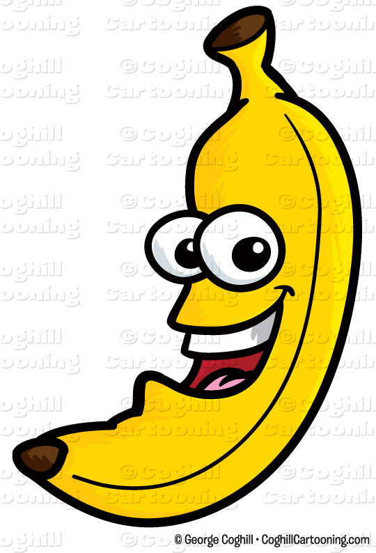 540x794 Cartoon Banana Clip Art Stock Illustration